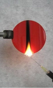 Needle flame test to IEC 60695-2-2, EN 60695-2-2, VDE 0471 Part 2-2 The  ignition source is a butane gas flame produced by a needle burner.